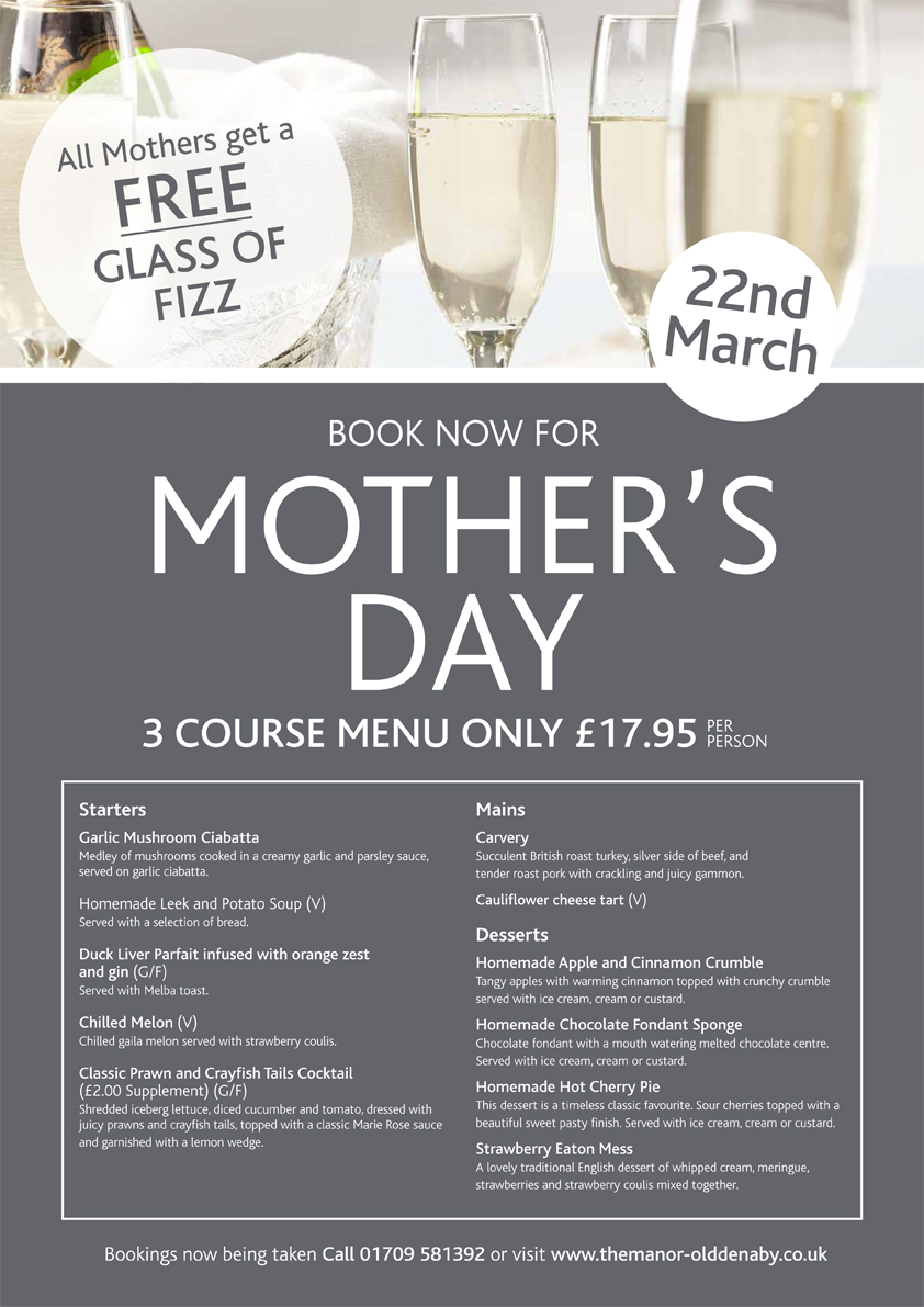 mothers-day-meal-at-the-manor-doncaster-menu